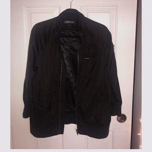 Members Only Black Satin Jacket